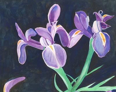 Painting - Irises by Helena Tiainen
