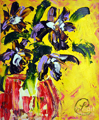 Painting - Irises by Lynda Cookson