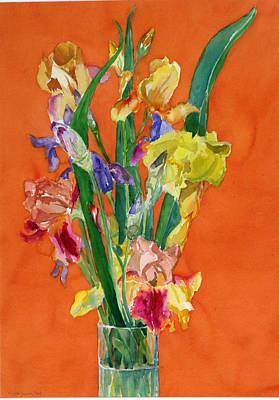 Irises Art Print by Martha Zausmer paul