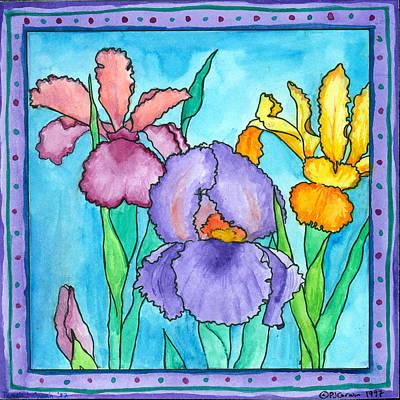 Corwin Painting - Irises by Pamela  Corwin