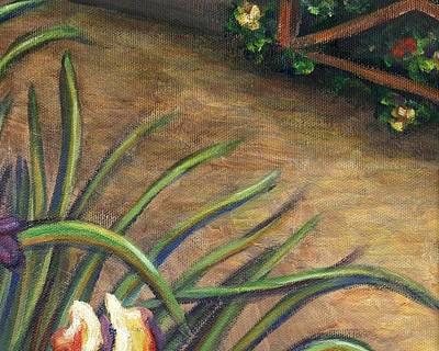 Iris Painting - Iris Flower Garden Part B by Linda Mears