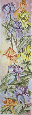 Painting - Irises Watercolor 3 by Jill Annette Johnson