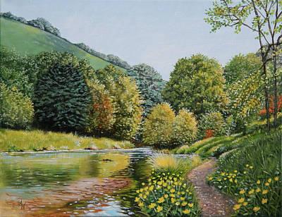 Painting - Irish Afternoon Stroll by Arie Van der Wijst
