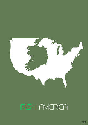 Ireland Digital Art - Irish America Poster by Naxart Studio
