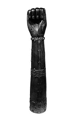 Photograph - Irish Art Closed Fist Of Shrine Of Saint Lachtin Arm Black And White by Shawn O'Brien