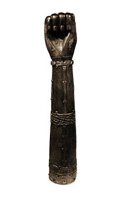 Photograph - Irish Art Closed Fist Of Shrine Of Saint Lachtin Arm Sepia by Shawn O'Brien