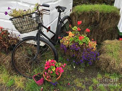 Photograph - Irish Bike And Flowers by Suzanne Lorenz