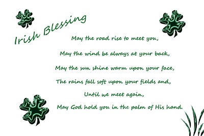 Digital Art - Irish Blessing 2 by Aimee L Maher ALM GALLERY