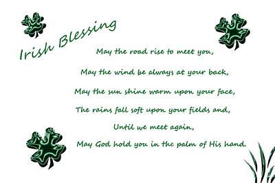 Irish Blessing 2 Art Print