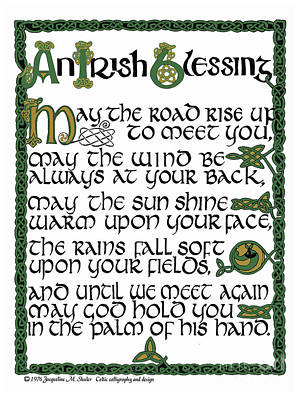 Drawing - Irish Blessing by Jacqueline Shuler