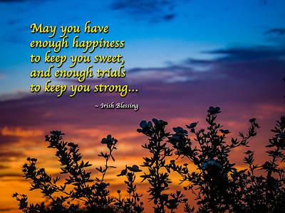 Photograph - Irish Blessing-may You Have Enough Happiness... by James Truett