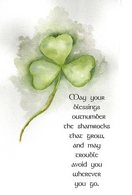 Irish Blessing Art Print by Nancy Ingersoll