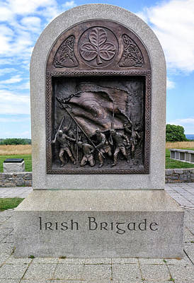 Photograph - Irish Brigade Memorial by Dave Mills