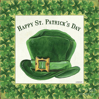 Art Print featuring the painting Irish Cap by Debbie DeWitt