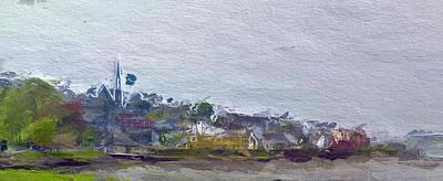 Old House Mixed Media - Irish Coast by Steve K