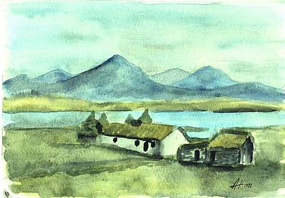 Irish Cottage Art Print by Alan Hogan