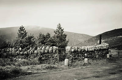 Photograph - Irish Countryside Black And White. Wicklow by Jenny Rainbow