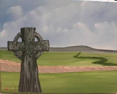 Irish Countryside Original by John Ward