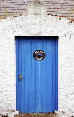 Photograph - Irish Door Colorful And Vibrant Blue Entrance Atlantic House Hotel Ballycotton County Cork Ireland by Shawn O'Brien