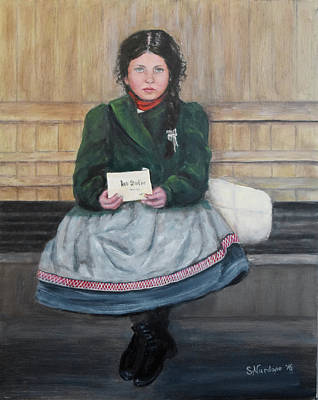 Painting - Irish Girl On Ellis Island by Sandra Nardone