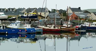 Digital Art - Irish Harbor by Bob Shimer