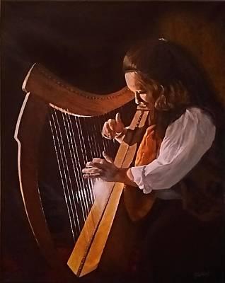 Painting - Irish Harp by Sheryl Gallant