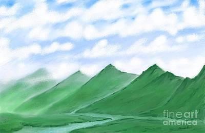 Nomadic Digital Art - Irish Hills by Stacy C Bottoms
