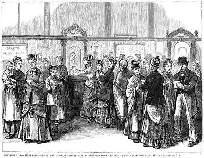 Photograph - Irish Immigrants, 1880 by Granger