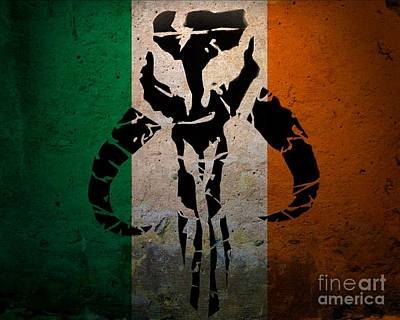 Justin Moore Digital Art - Irish Mandalorian by Justin Moore