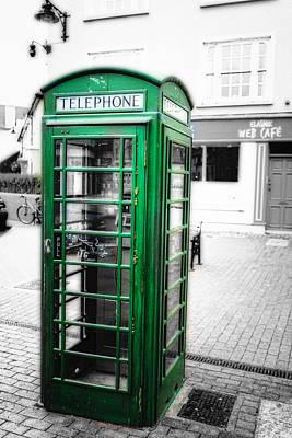 Irish Phone Booth In  Kinsale Art Print by George Oze