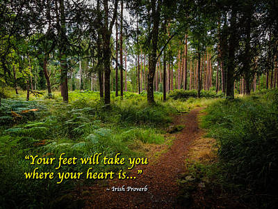 Photograph - Irish Proverb - Your Feet Will Take You... by James Truett