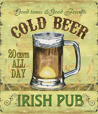 Beer Painting - Irish Pub by Debbie DeWitt