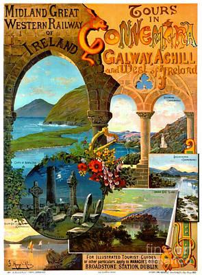 Photograph - Irish Railway Tour Poster 1900 by Padre Art