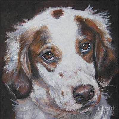 Painting - Irish Red And White Setter by Lee Ann Shepard