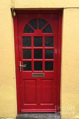 Photograph - Irish Red Door by Suzanne Lorenz