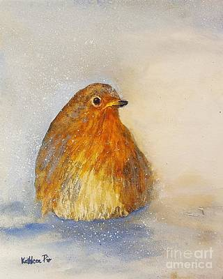 Catcher Mixed Media - Irish Robin In The Snow by Kathleen Pio
