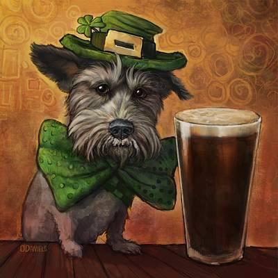 Mini Schnauzer Painting - Irish Ruff by Sean ODaniels
