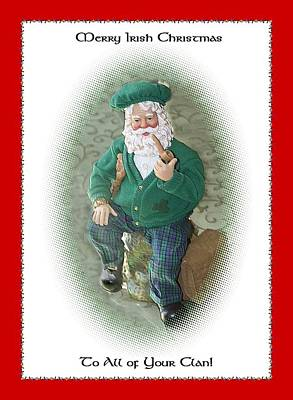 Digital Art - Irish Santa Card by Ellen Barron O'Reilly