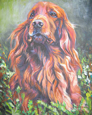Painting - Irish Setter by Lee Ann Shepard