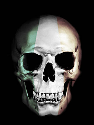 Art Print featuring the digital art Irish Skull by Nicklas Gustafsson