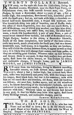 Photograph - Irish Slaves The Pennsylvania Gazette Wed Oct 26 1774 by Robert Rhoads