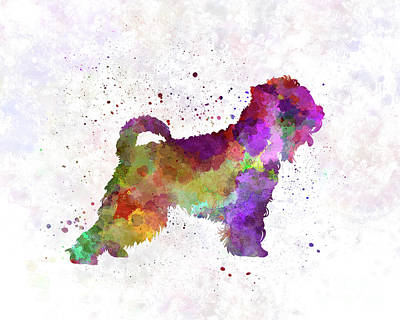 Soft Coated Wheaten Terrier Painting - Irish Soft Coated Wheaten Terrier In Watercolor by Pablo Romero