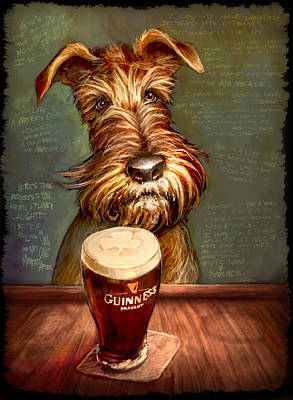 Terriers Painting - Irish Toast by Sean ODaniels