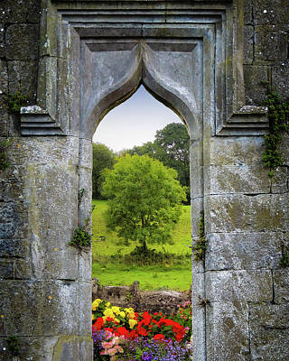 Photograph - Irish Summer Through Kildysart Church Ruins by James Truett