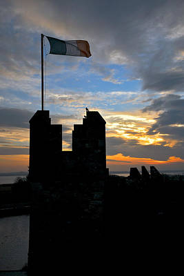 Irish Sunset Over Ramparts 1 Art Print