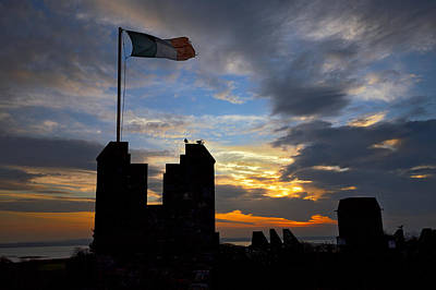 Irish Sunset Over Ramparts 2 Art Print