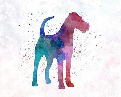 Irish Terrier In Watercolor Art Print by Pablo Romero
