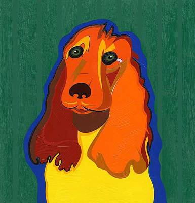 Painting - Irish The Red Setter by Ruby Persson