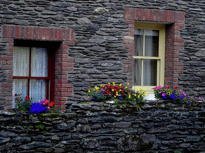 Photograph - Irish Window Boxes by Jacqueline  DiAnne Wasson