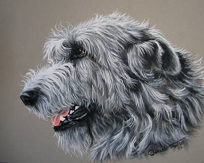 Irish Wolfhound Original by Daniele Trottier